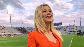 Cea mai sexy jurnalista din Italia s-a indragostit de o vedeta! Cine a cucerit-o pe blonda sexy din fotbal