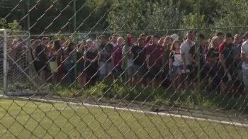 Cozi URIASE la intrarea in stadion! NEBUNIE totala la meciul Rapidului. Fanii au asteptat o repriza ca sa intre la meci