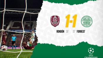 CFR CLUJ - CELTIC 1-1   Totul se decide in Scotia! Rondon si Forrest au marcat intr-un meci NEBUN la Cluj! Tucudean putea da lovitura pe final