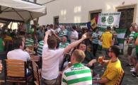 Fanii lui Celtic au pus stapanire pe centrul orasului! Atmosfera incendiara cu cateva ore inainte de meciul cu CFR. VIDEO