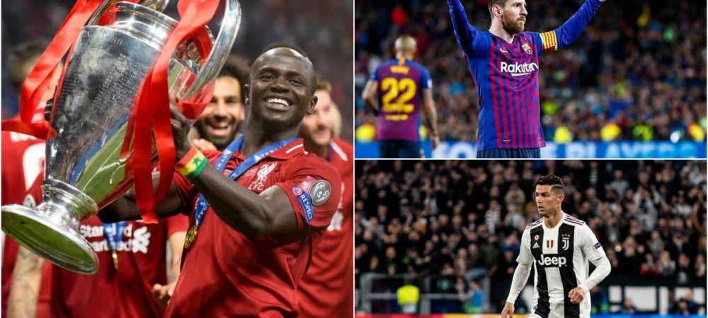 Ronaldo vs. Messi vs. Mane pentru cel mai bun atacant! UEFA a anuntat nominalizatii pentru cel mai buni jucatori ai sezonului 2018/19 din UCL!