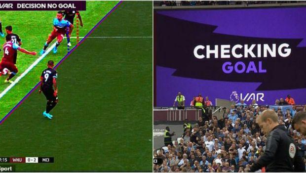 Prima decizie VAR din istoria Premier League a iscat si primele mari controverse! Golul lui Sterling, anulat pentru un ofsaid care nu e clar nici pe calculator! FOTO