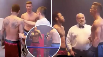 Cristiano Ronaldo si Neymar, meci de box in ring! Si-au pus manusile in maine si au intrat ca doi cocosi! VIDEO
