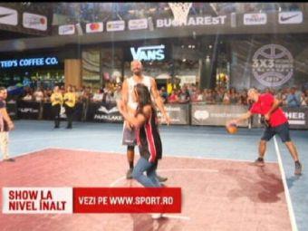 Catalina Ponor si Marian Dragulescu s-au intrecut si ei la baschet 3x3, la cel mai tare turneu din Romania! Norocul lor s-a numit Virgil Stanescu :)
