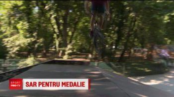 Sunt asi pe bicicleta si stau mai mult in aer, decat pe pamant! Vor sa castige un aur olimpic pentru Romania!