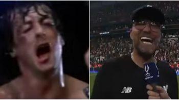 """FABULOS! Jurgen Klopp l-a imitat pe Rocky dupa victoria cu Chelsea: """"Adriaaaaan!"""" VIDEO"""