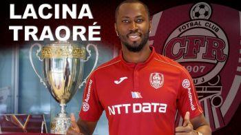 OFICIAL! Primul transfer al CFR-ului dupa calificarea in play-off-ul Champions League: Lacina Traore s-a intors la Cluj