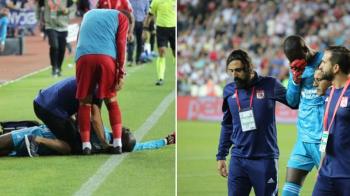 Cutremurator! Imagini greu de urmarit pe terenul de fotbal! Un jucator s-a prabusit si a fost dus de urgenta la spital! Faza care a avut loc sub ochii unui roman