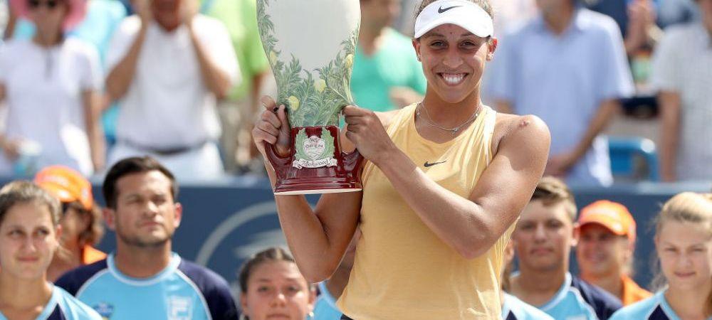 Campioana la Cincinnati, Madison Keys sare de pe 18 pe 10 in TOPUL WTA! Cum arata clasamentul actualizat si pe cat se afla Simona Halep