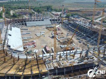 Creste de la zi la zi! Noi imagini cu stadionul din Ghencea, ale carui tribune au inceput deja sa se inalte! In Giulesti se lucreaza la fundatie: FOTO