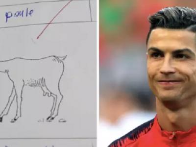 Ce a putut sa scrie un elev la testul de limba franceza! Profesorul nu a gustat gluma cu Ronaldo si i-a dat nota mica :)) FOTO