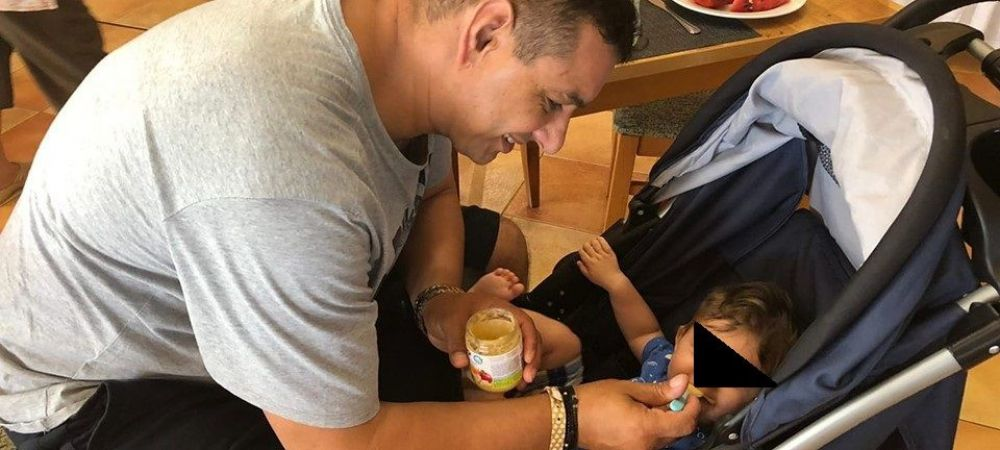 "Ionel Ganea este bunic la 45 de ani. El ii spune nepotului ""Ganezu 3"" si vrea sa il faca tot fotbalist. FOTO"