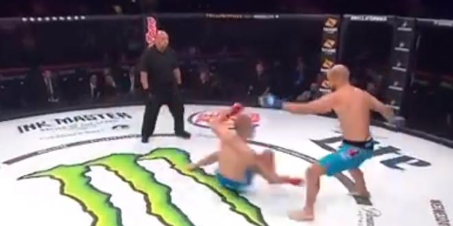 Nu ai mai vazut niciodata asa ceva. De ce se arunca un luptator la picioarele adversarului imediat cum incepe meciul! VIDEO
