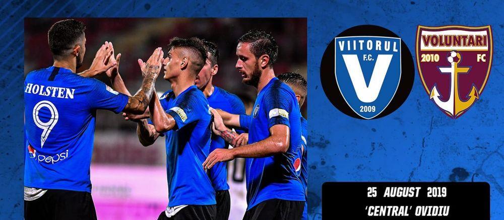 ACUM LIVE: VIITORUL 0-0 VOLUNTARI! Rivaldinho, aproape de revenire! E pe banca la Viitorul