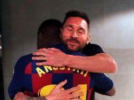 Au avut nevoie de acordul parintilor ca sa-l ia in lot pentru meciul Barcelonei cu Betis! Messi l-a imbratisat la final si a transmis un mesaj emotionant