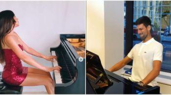 Djokovic, lectii de muzica de la cea mai SEXY pianista din lume! Cum s-a relaxat sarbul inainte de US Open. FOTO