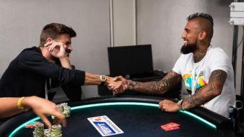 Pique si Vidal s-au dus la poker si nu s-au ridicat de la masa pana nu au castigat jumatate de milion de euro!
