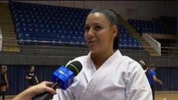 "Ar trebui sa ia exemplu de la ea! O dinamovista e campioana mondiala si europeana la karate si joaca handbal in liga a doua: ""Baietilor chiar le-ar trebui putina rautate"""