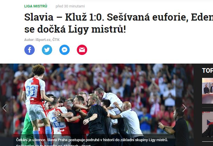SLAVIA PRAGA - CFR 1-0  