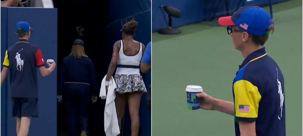 """""""O cafea pentru doamna Williams!"""" Moment bizar la US Open! Venus a cerut o cafea, apoi s-a dus la vestiar. VIDEO"""