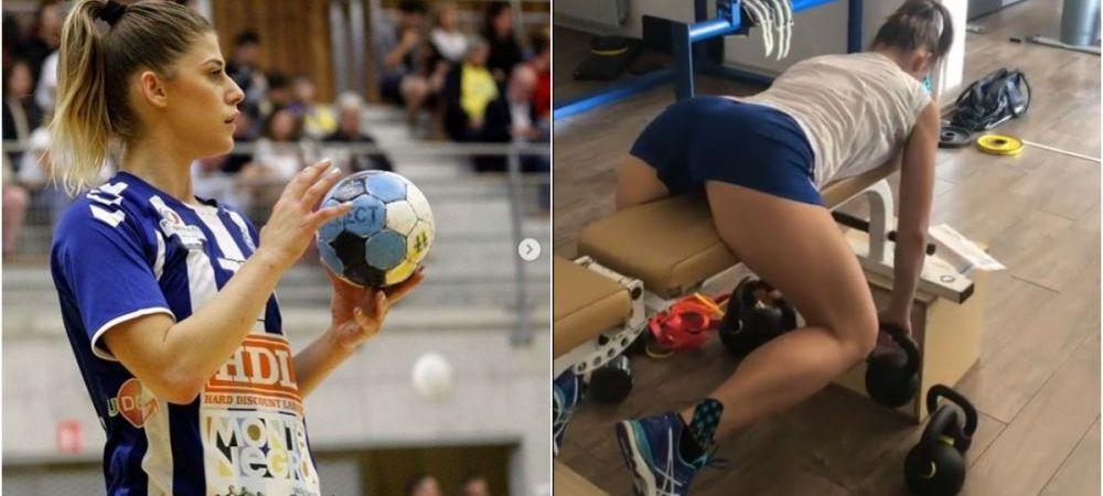 Bomba sexy din handbal, imagini de INFARCT din sala de forta. Cum se pregateste sa cucereasca Europa. FOTO