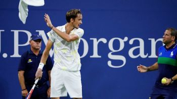 "Scandal MONSTRU la US Open! Medvedev a fost huiduit de o arena intreaga si le-a aratat degetul mijlociu: ""Va multumesc ca m-ati ajutat sa castig!"""