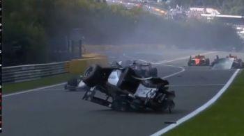 TRAGEDIE in Formula 2! Un pilot si-a pierdut viata dupa un accident teribil: trei masini au fost implicate | VIDEO