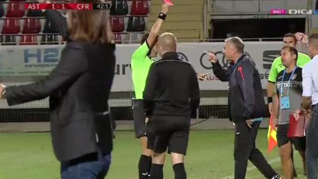 Cuvintele pentru care a primit cartonasul rosu: motivul pentru care a fost eliminat Dan Petrescu! Ce a facut antrenorul CFR-ului imediat dupa eliminare | VIDEO