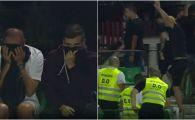 SEPSI - DINAMO: Galeria dinamovista, evacuata cu gaze lacrimogene din stadion! Scandal la Sfantu Gheorghe. FOTO