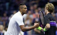 Kyrgios bate si recorduri! Australianul a stabilit un record nou la US Open, in meciul in care a fost eliminat