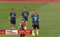 ROMANIA - SPANIA, JOI PRO TV | Vizita-surpriza in cantonamentul Spaniei! Opt jucatori au fost testati anti-doping