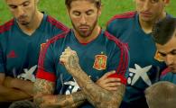 Sergio Ramos a facut spectacol la antrenamentul Spaniei de pe National Arena! Tatuajul care a furat toate privirile. GALERIE FOTO