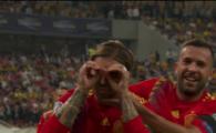 ROMANIA - SPANIA: National Arena a ERUPT la adresa lui Sergio Ramos! Ce gest a facut dupa ce a dat gol. VIDEO