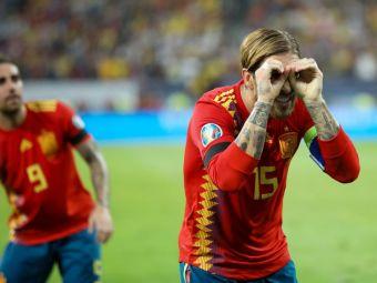ROMANIA - SPANIA 1-2: Pentru cine era in realitate gestul facut de Sergio Ramos! 50.000 de romani l-au fluierat DEGEABA! FOTO