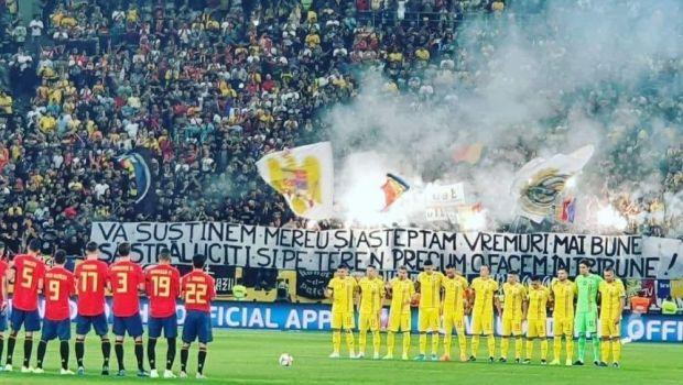 """ULTIMA ORA! Mesajul galeriei dupa incidentele de la partida cu Spania: """"Nu am vrut sa stricam minutul de reculegere"""" COMUNICAT"""