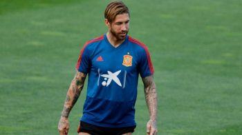 """Ramos, un capitan adevarat! Cum si-a felicitat """"galacticul"""" colegii dupa meciul cu Romania   VIDEO: imagini din vestiar"""