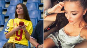 ROMANIA - MALTA, PROTV: Iubita lui George Puscas, aparitie de senzatie inainte de meci. FOTO