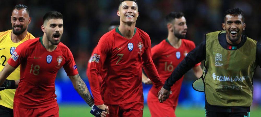 Ronaldo e un MONSTRU! Portughezul a marcat 4 GOLURI in meciul cu Lituania si si-a trecut numele in istorie