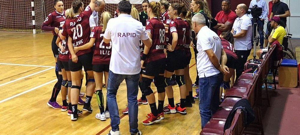 """Scandal imens in handbal, dupa ce rapidistii au fost jigniti de fanii din Zalau: """"Tiganii nu sunt romani!!!"""""""