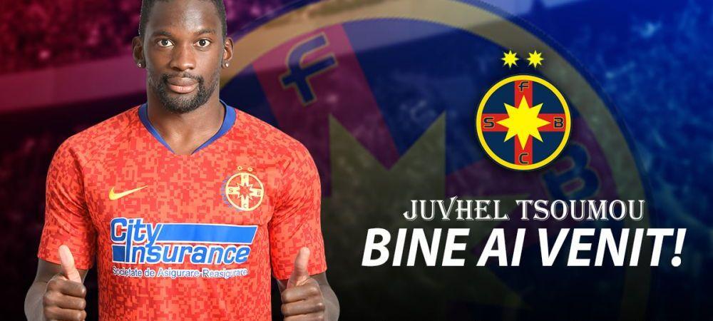 Juvhel Tsoumou, OFICIAL la FCSB! Ce contract a semnat fostul varf de la Hermannstadt