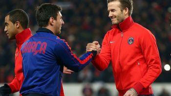 A venit sa-l transfere pe Messi? Vizita fulger a lui Beckham in Barcelona: starul argentinian poate pleca de pe Camp Nou