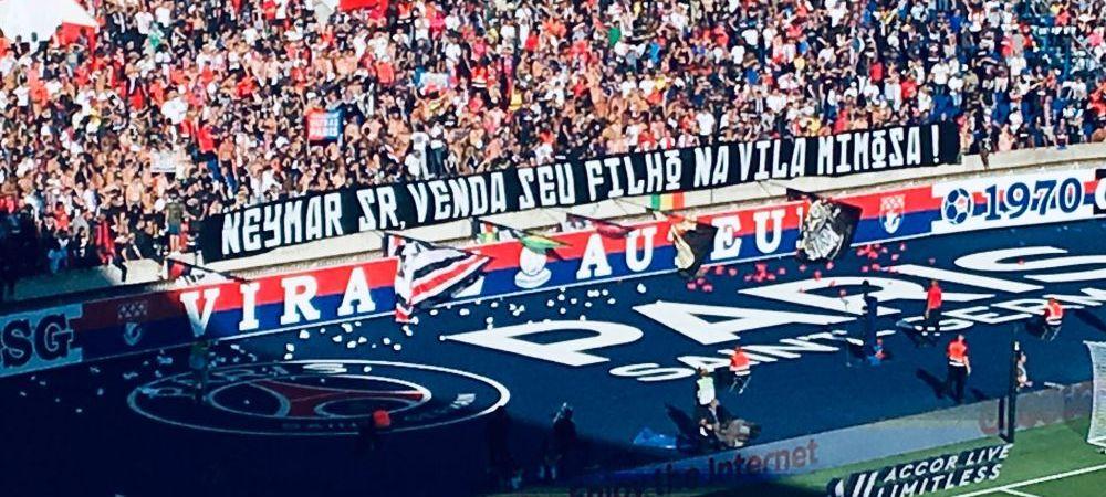 """""""20 de milioane ca sa te intorci la Messi. Fara c***e la Paris!"""" Ultrasii lui PSG, nemilosi cu Neymar. Ce mesaje au afisat"""