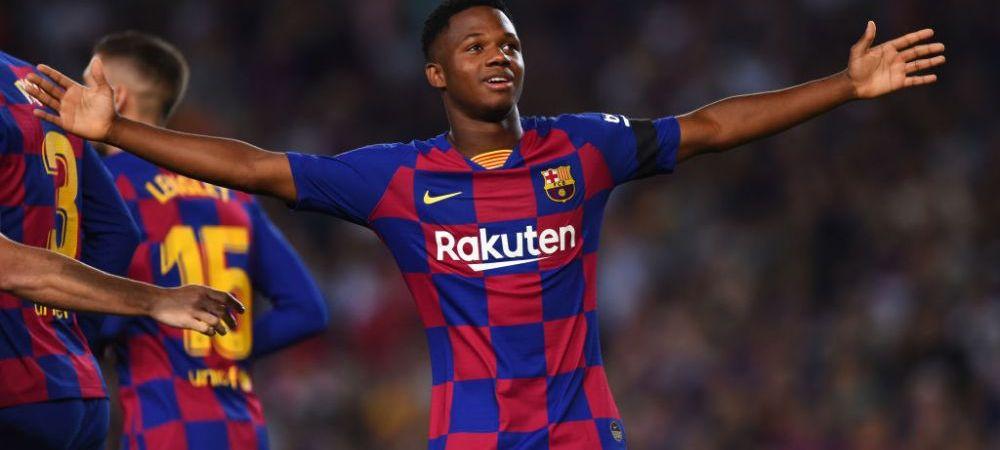 Pentru ce nationala va juca Ansu Fati, pustiul dinamita de la Barca! Catalanii l-au blindat cu o clauza de 100.000.000 euro la doar 16 ani