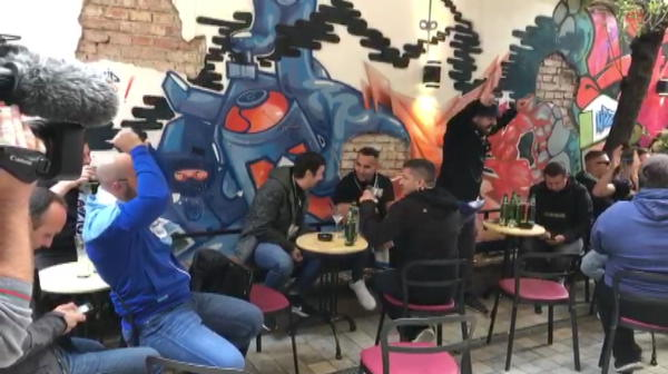 CFR CLUJ - LAZIO: Ultrasii lui Lazio au luat cu asalt Clujul. Ce au facut inaintea partidei. VIDEO