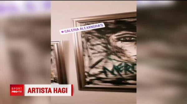 """Kira Hagi, o artista completa! Actoria e marea iubire, dar fiica lui Hagi si-a expus si tablourile: """"A fost o forma de terapie!"""""""