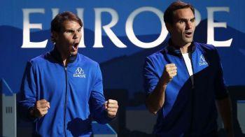 Cu asa antrenori, sa tot castigi! Nadal si Federer impreuna intr-o postura inedita