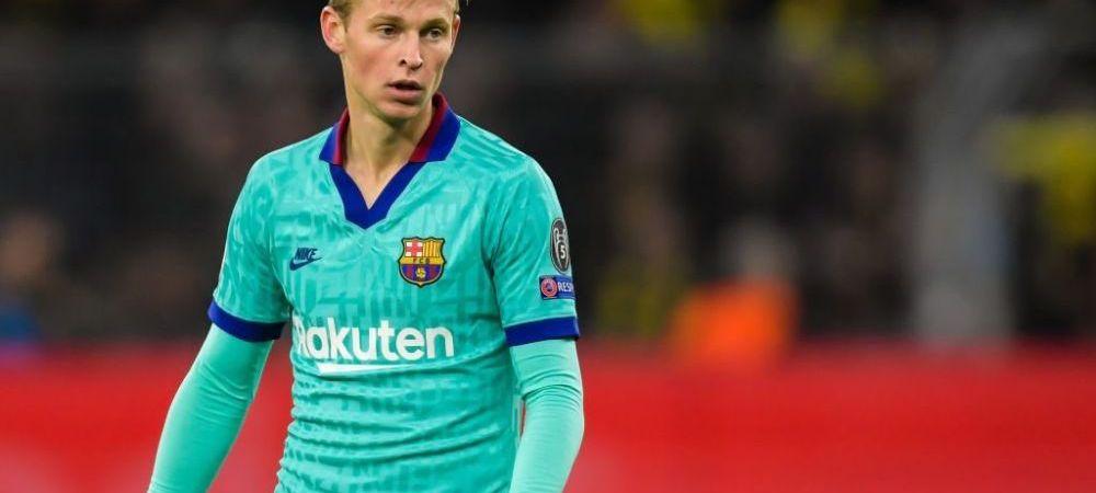 """Frenkie De Jong este primul sau critic: """"Daca joc prost este vina mea, nu a pozitiei mele in teren"""". Mijlocasul a refuzat-o o data pe Barcelona"""