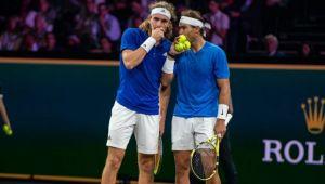Nadal si Tsitsipas nu s-au inteles la Laver Cup! Au fost invinsi de Kyrgios si Sock