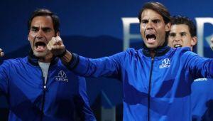 CUPA LAVER   Federer si Nadal joaca astazi impreuna la dublu! Cei doi au fost antrenori pentru o zi