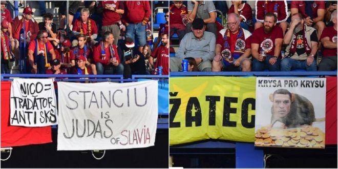 STANCIU = SOBOLAN; STANCIU = TRADATOR  Suporterii Spartei Praga l-au fluierat si injurat pe Stanciu, dar romanul a castigat derbyul Cehiei